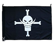 Больше аксессуаров Вдохновлен One Piece Косплей Аниме Косплэй аксессуары Флаг Черный Терилен Мужской