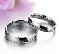 God Bless Love Personality Between Black Titanium Couples Diamond Ring Promis rings for couples