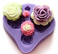 Недорогие -выпечке Mold Цветы Шоколад Пироги Торты Силикон Своими руками День Святого Валентина Высокое качество