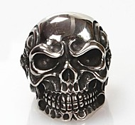 Z&X®  Men's Fashion And Personality Skull Titanium Steel Ring Christmas Gifts