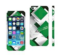 Недорогие -AIKUSU ® Смешанные цвета Дизайн мобильного телефона кожного покрова для iPhone 5/5S KSCT0013