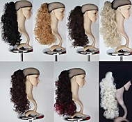 Excellent Quality Synthetic 18 Inch Long Curly Claw Ponytail Hairpiece - 7 Colors Available