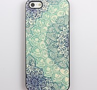 Blue Lotus Pattern Aluminum Hard Case for iPhone 5/5S iPhone Cases