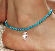 cheap -Hamsa Hand Anklet - Green Fashion Hamsa Hand Resin Anklet For Party Daily Casual