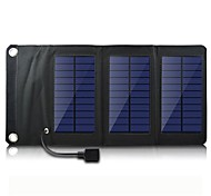 USB выход 5В портативный& складной солнечное зарядное устройство панели для iphone6 / 6plus / 5s Samsung S4 / 5 HTC и других мобильных устройств