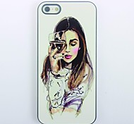 cheap -Elegant Girl Design Metal Hard Case for iPhone 5/5S\ iPhone Cases