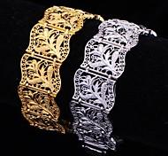 Недорогие -u7® горячей продажи старинные 18k коренастый позолоченные браслеты для женщин моды для мужчин браслет 20 см 20 мм
