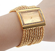 cheap -Women's Quartz Bracelet Watch Japanese Imitation Diamond Copper Band Luxury / Sparkle / Elegant / Fashion Gold