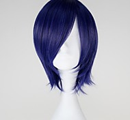 Parrucche Cosplay Tokyo Ghoul Kirishima Touka Blu Corto Anime Parrucche Cosplay 32 CM Tessuno resistente a calore Donna
