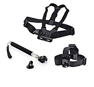 Chest Harness Front Mounting Straps Hand Grips/Finger Grooves Monopod Tripod Mount / Holder 147-Action Camera,Xiaomi Camera Gopro 5 Gopro