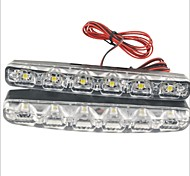 Carking™ 12V 6LED Universal Car Light DRL Daytime Running Head Lamp-White Light(2PCS)