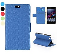 abordables -Fashional Maze Pattern Side Flip Stand Wallet PU Leather Case for Sony Xperia A2(Assorted Colors)