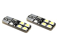 cheap -T10 Car Motorcycle White 1W 5800-6300Instrument Light Reading Light License Plate Light Side Marker Light Turn Signal Light Inspection