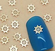 Недорогие -200pcs золотой лодке руля металла ломтик ногтей украшения