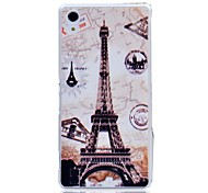 Compass Eiffel Tower Pattern Hard Protective Cover for SONY Xperia Z2/L50W/D6502/D6503 Case