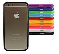 Недорогие -стильная рамка бампера tpu для iphone 6 (различный цвет) iphone случаи