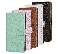 Hollow Pattern PU Leather Full Body Case with Stand and Card Slot for iPhone 5/5S