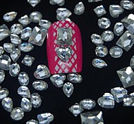 100PCS Mix Shapes Resin Diamond Accessories Not Include Box 3D Nail Art Decoration