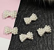 Недорогие -10шт белый жемчуг галстук сплав ногтей аксессуары ногтей украшения