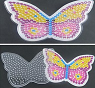 cheap -1PCS Template Clear Pegboard Colorful Butterfly Pattern for 5mm Hama Beads Fuse Beads DIY Jigsaw
