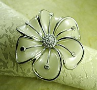 рука цветок салфетки кольца, акриловые beades, 4.5cm, набор 12