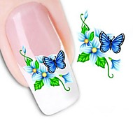 cheap -1pcs Water Transfer Sticker 3D Nail Stickers Nail Stamping Template Daily Flower Fashion Wedding High Quality