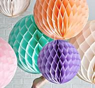 Недорогие -16-дюймовый сотовый папиросной бумаги цветок мяч (больше цветов)