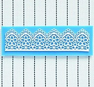 Lace Fondant Cake Chocolate Resin Clay Candy Silicone Mold Mat, 16x5x0.3cm