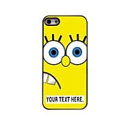 Недорогие -персонализированные Мультфильм желтый дизайн в металлическом корпусе для iPhone 5/5 секунд