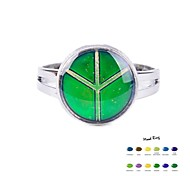 cheap -Women's Enamel Alloy Band Ring - Color Gradient Green Ring For Daily Casual Sports