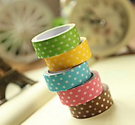 cheap -Simple Design Spot Pattern Scrapbooking Adhesives Tape(3m Random Color,1 PCS)