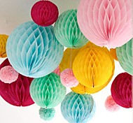 cheap -10 Inch Honeycomb Tissue Paper Flower Ball (More Colors)