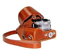 baratos -couro dengpin® proteção câmera caso tampa do saco padrão de 7 cores com alça de ombro para Sony NEX-5R NEX-5R 5t 5t