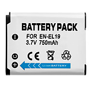 3.7V 750mAh SHENFU Lithium Ion Mini DV Batttery for Nikon EN-EL19