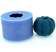 cheap -Halloween Pumpkin Fondant Cake Chocolate Candle Silicone Mold,L4.2cm*W4.2cm*H3.4cm