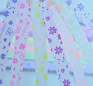 2x 30 PCS Fluorescent Effec Butterfly and Flowers Pattern Lucky Star Origami Materials (Random Color)