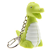 Key Chain Toys Key Chain LED Lighting Sound Dinosaur Plastic Fashion Lovely Pieces Birthday Children's Day Gift