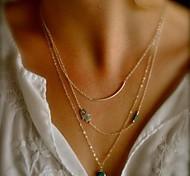 shixin® liga jóia vintage minúsculo pingente de colar (de ouro) (1 pc)