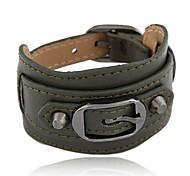Недорогие -тонкая металлическая пряжка пояса диких личности краткой моды кожаный браслет