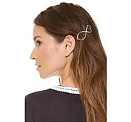 cheap -Shixin® Vintage Number 8 Alloy Barrettes  For Women (Golden) (1 Pc)
