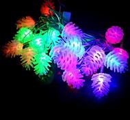 Недорогие -20 привело 4m водонепроницаемый рождественские украшения ананас rgb свет привело строку света (220v)