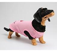 Собака Футболка Одежда для собак На каждый день Буквы и цифры Розовый Костюм Для домашних животных