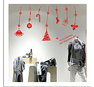 Недорогие -zooyoo® милые красочные ПВХ съемный Рождественский кулон картину наклейки стены горячие наклейки продажи стены для домашнего декора