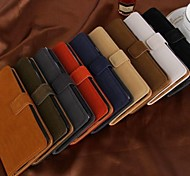 Fashion Wallet Style PU Leather Full Body Case with Card Slot for Samsung Galaxy S5 I9600