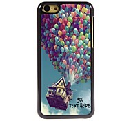 cheap -Personalized Phone Case - Balloon Design Metal Case for iPhone 5C