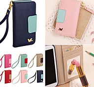 abordables -DF Colorful Little Bird PU Leather Full Body Case with Strap for iPhone 4/4S(Assorted Colors)