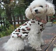 cheap -Cat Dog Sweatshirt Pajamas Dog Clothes Leopard Black Polar Fleece Costume For Pets Men's Women's Casual/Daily