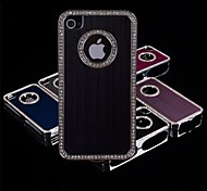 щеткой алмаз рама алюминиевый корпус для iPhone 4 / 4s (разные цвета)