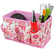 Недорогие -складной квадратной косметику стенд ящик для хранения макияж кисти горшок косметический органайзер (3 цвета на выбор)