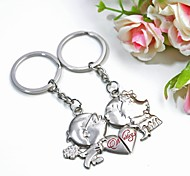 cheap -Personalized Engraving  Metal Couple Keychain